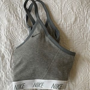Nike Tops - Nike sports bra gray size large